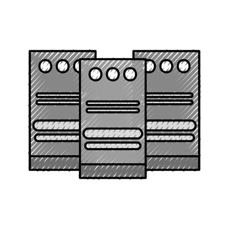 data center cloud computing and hosting vector illustration Ilustração
