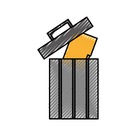 trash can recycle information folder file data vector illustration