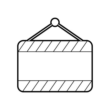 signal board blank construction hanging on the nail vector illustration Illustration