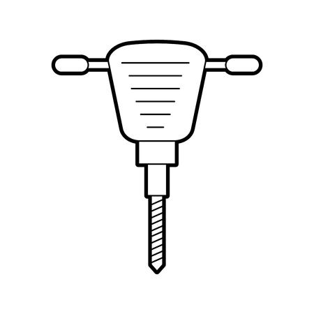 Instrument d'équipement de marteau-piqueur pour illustration vectorielle de construction Banque d'images - 85441821