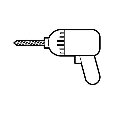 schroevendraaier boor symbool van de montage of reparatie vector illustratie