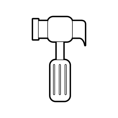hammer tool construction repair hard work vector illustration