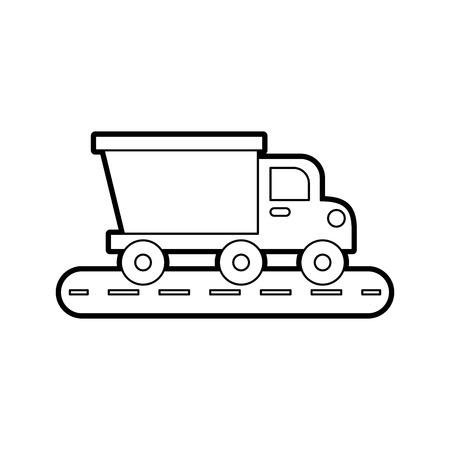 ダンプトラック建設機械機器絶縁ベクトルイラスト  イラスト・ベクター素材