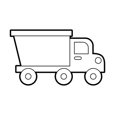 dump truck construction machinery equipment isolated vector illustration