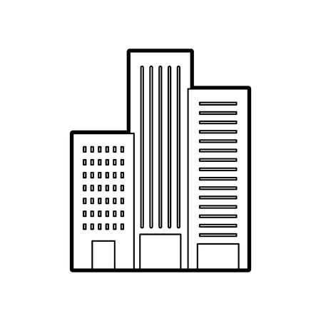 building construction architecture for apartment or business property vector illustration Ilustração