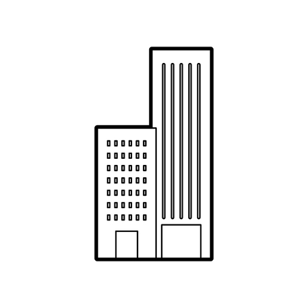 building construction architecture for apartment or business property vector illustration Illustration