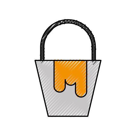 paint bucket color renovation repair icon vector illustration