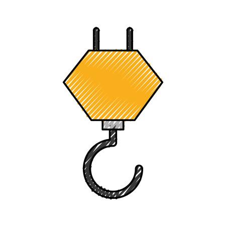 kraanhaak bouwmachines mechanische vectorillustratie