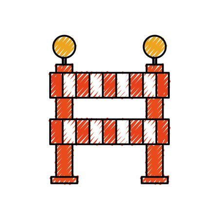 under construction barrier graphic design icon vector illustration Illustration