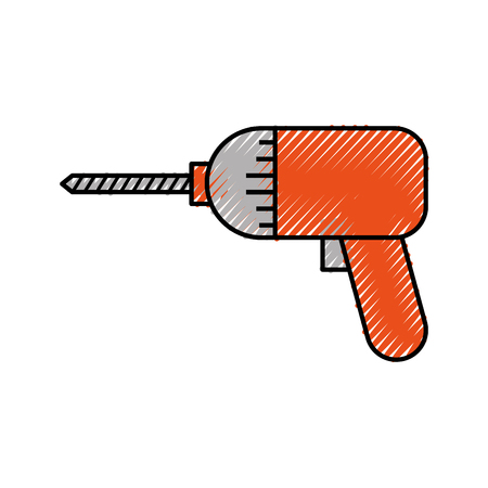 screwdriver drill symbol of the assembly or repair vector illustration