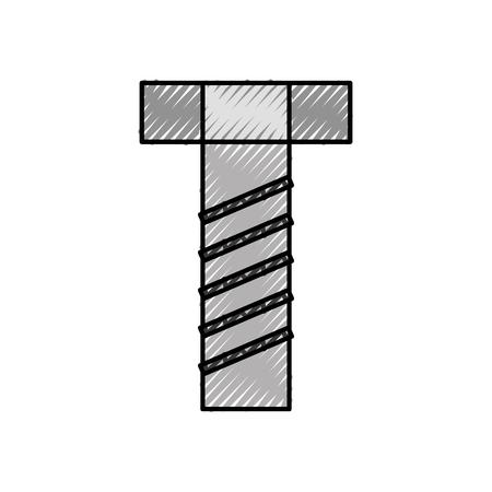 스크류 도구 액세서리 조절 가능 건설 아이콘 벡터 일러스트 레이션