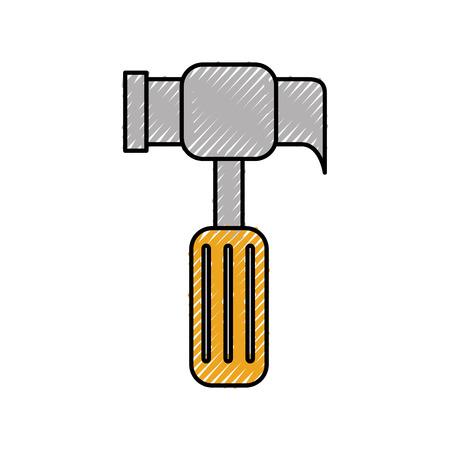 hammer tool construction repair hard work vector illustration Reklamní fotografie - 85442022