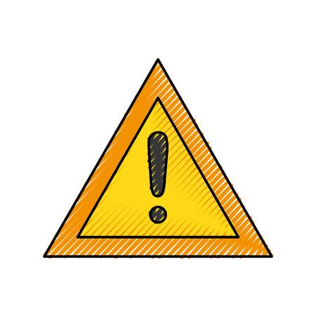 signal warning alert under construction concept vector illustration