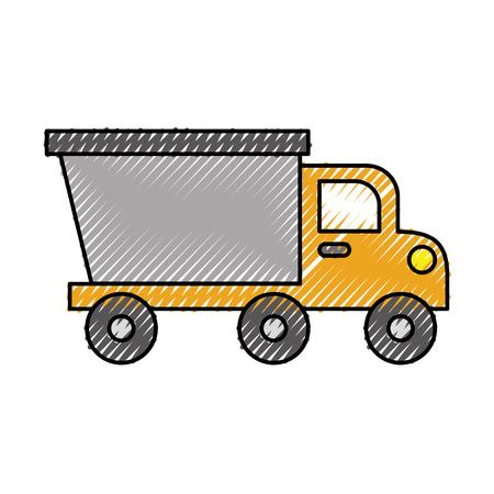 dump truck construction machinery equipment isolated vector illustration