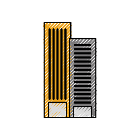 Costruzione di architettura per appartamento o illustrazione vettoriale proprietà d'affari Archivio Fotografico - 85442015
