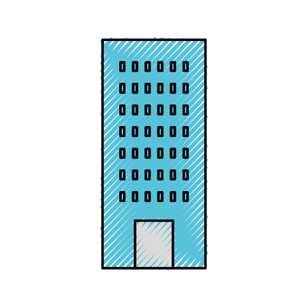 아파트 또는 비즈니스 속성 벡터 일러스트 레이 션을위한 건축 건축 건축 일러스트