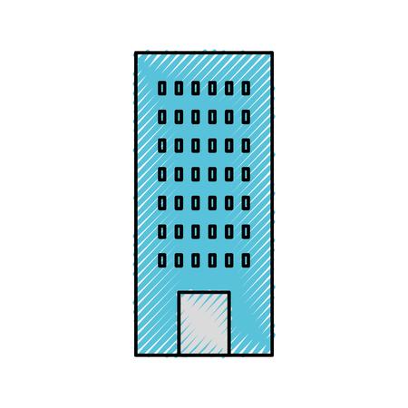 Costruzione di architettura per appartamento o illustrazione vettoriale proprietà d'affari Archivio Fotografico - 85442014