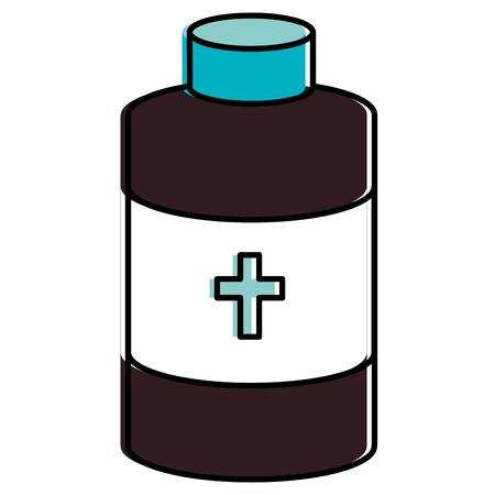 bottle medical isolated icon vector illustration design Ilustração