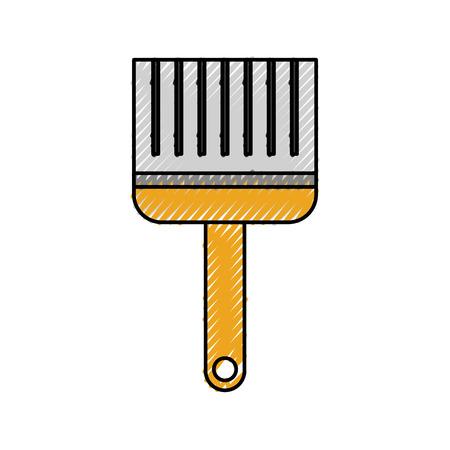 paint brush color repair instrument icon vector illustration