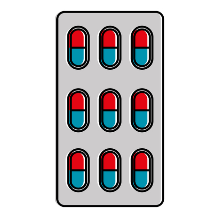 capsules drugs isolated icon vector illustration design
