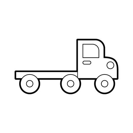 輸送障害や緊急車ベクトルイラストのためのレッカー車は、白い背景に隔離