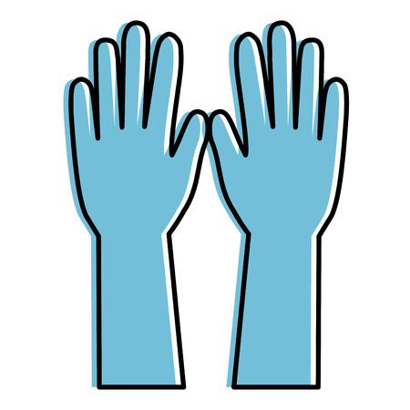 surgical golves rubber icon vector illustration design Çizim