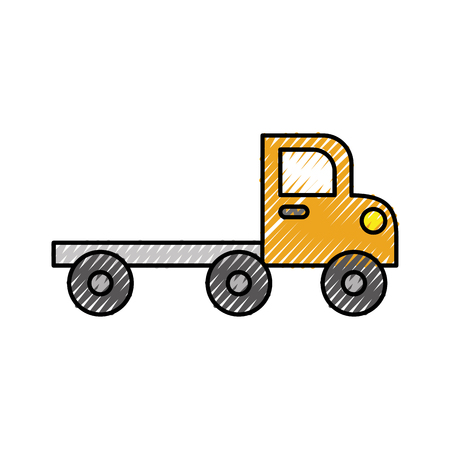 tow truck for transportation faults and emergency cars vector illustration isolated on white background Banco de Imagens - 85442050