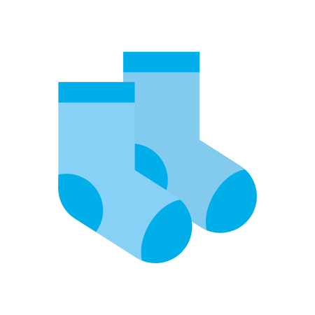 baby shower sock clothes child design vector illustration
