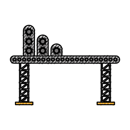scaffolding supplies for construction machinery vector illustration