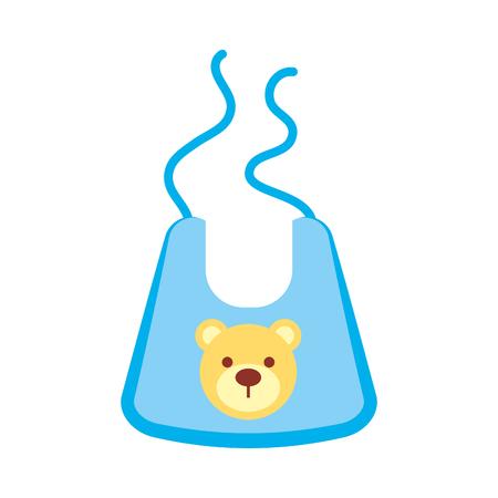 baby jongen douche bib accessoire ontwerp icoon vector illustratie Vector Illustratie