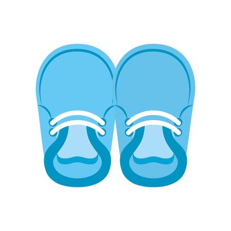 baby booties voor jongen kind schattige afbeelding vector illustratie Stock Illustratie