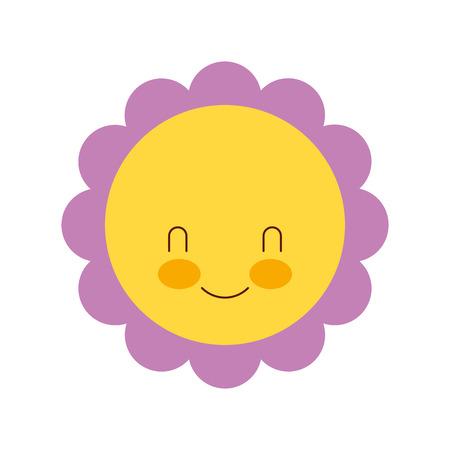 schattige bloem baby douche decoratie groet vectorillustratie