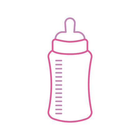 baby shower bottle milk little decorative vector illustration Vettoriali