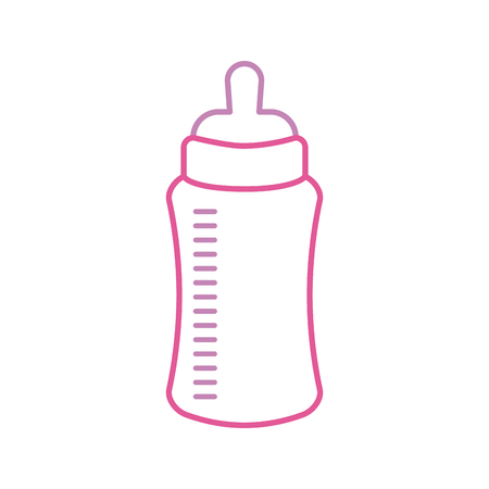baby shower bottle milk little decorative vector illustration Vectores