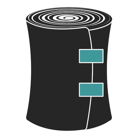의료 붕대 고립 된 아이콘 벡터 일러스트 디자인
