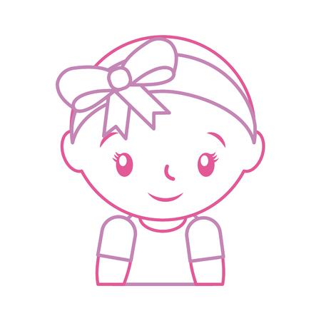 Gelukkig en lachend baby meisje schattige vector illustratie Stockfoto - 85458216
