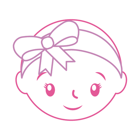 happy and smiling baby girl adorable vector illustration Иллюстрация