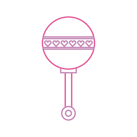 baby shower rattle toy gift icon vector illustration Zdjęcie Seryjne - 85458228