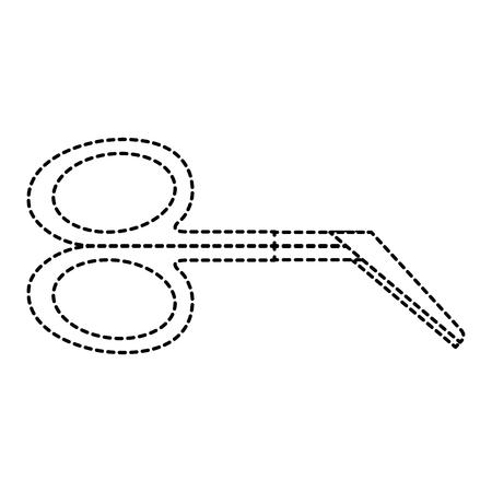 surgical scissors isolated icon vector illustration design
