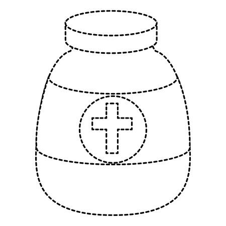 pharmacy symbol: bottle medical isolated icon vector illustration design Illustration