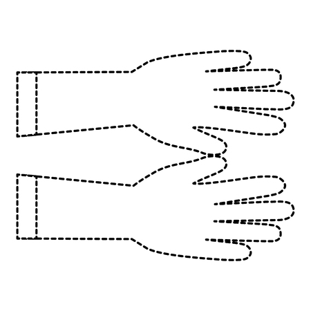 surgical golves rubber icon vector illustration design Illusztráció