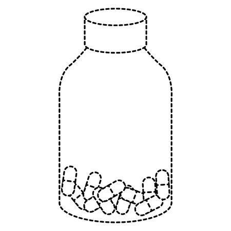 capsules drugs in bottle vector illustration design Ilustracja