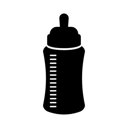 baby shower bottle milk little decorative vector illustration 向量圖像