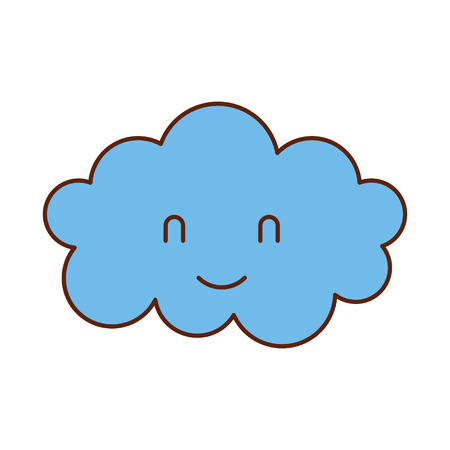 cartoon cute cloud baby shower image vector illustration