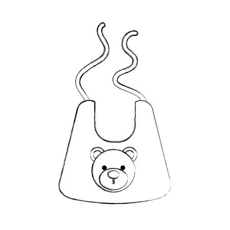 아기 소년 샤워 턱 액세서리 디자인 아이콘 벡터 일러스트 레이션