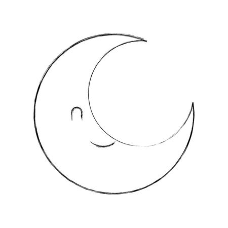 schattige cartoon maan baby douche decoratie vector illustratie Stock Illustratie