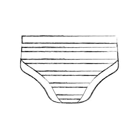 baby douche jongen ondergoed broek shorts vector illustratie