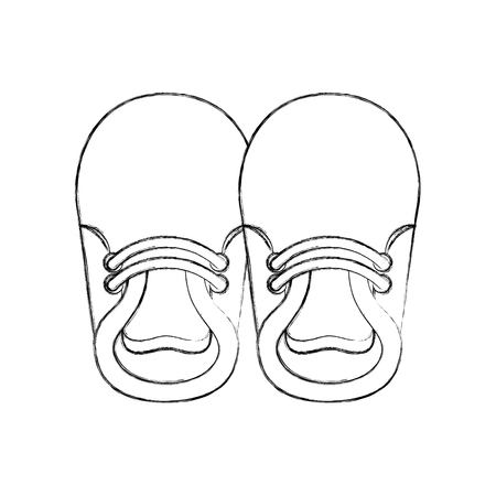 Chaussons de bébé pour garçon enfant illustration vectorielle mignon image Banque d'images - 85458555