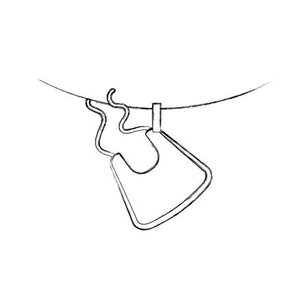 Babero de la ducha del bebé que cuelga el diseño de la decoración icono vector ilustración Foto de archivo - 85458559