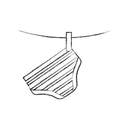 baby jongen jongen broek shorts opknoping decoratie afbeelding vectorillustratie